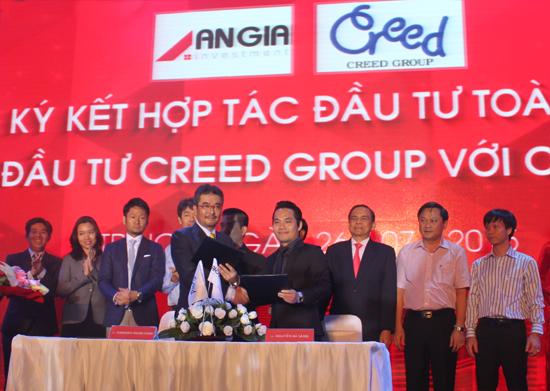 Lễ ký kết và đâu tư hợp tác toàn diện An Gia và Quỹ Creed Group