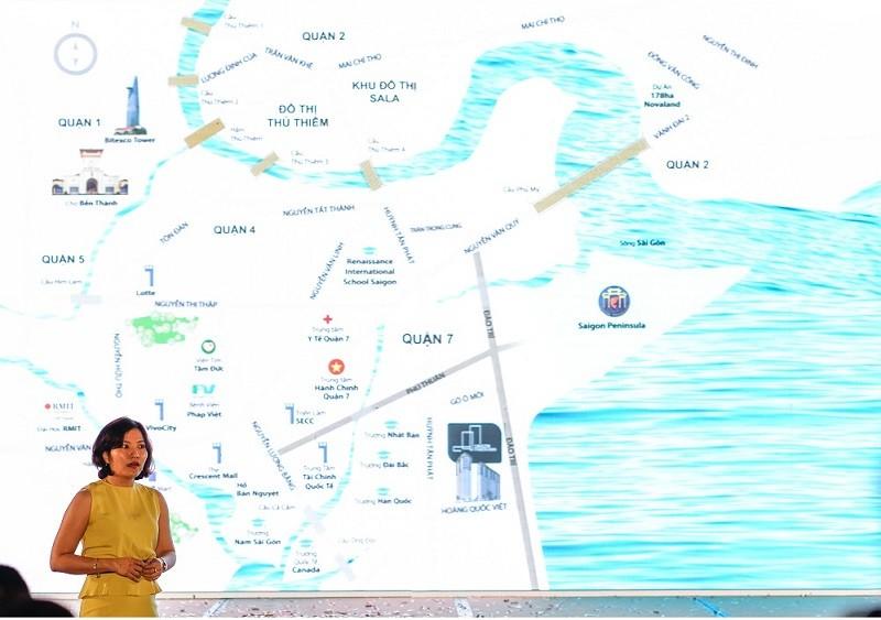 Bà Nguyễn Quỳnh Giang, TGĐ công ty Nam Hưng chia sẽ về tiềm năng phát triển của khu Nam