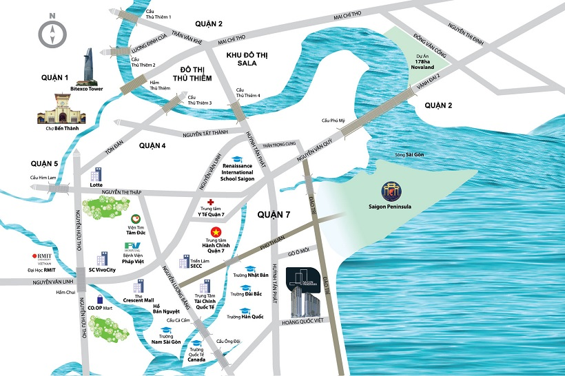 Vị trí dự án căn hộ chung cư River Panorama Quận 7 - Địa chỉ vị trí trí nhà mẫu dự án