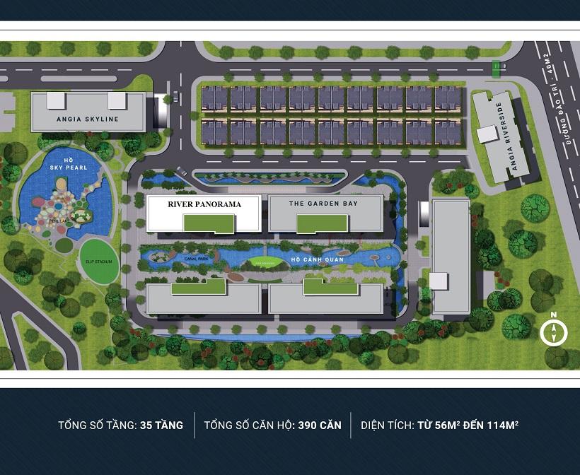 Mặt bằng thiết kế dự án căn hộ chung cư River Panorama q7 chủ đầu tư An Gia - Nhận mua bán ký gửi, cho thuê .