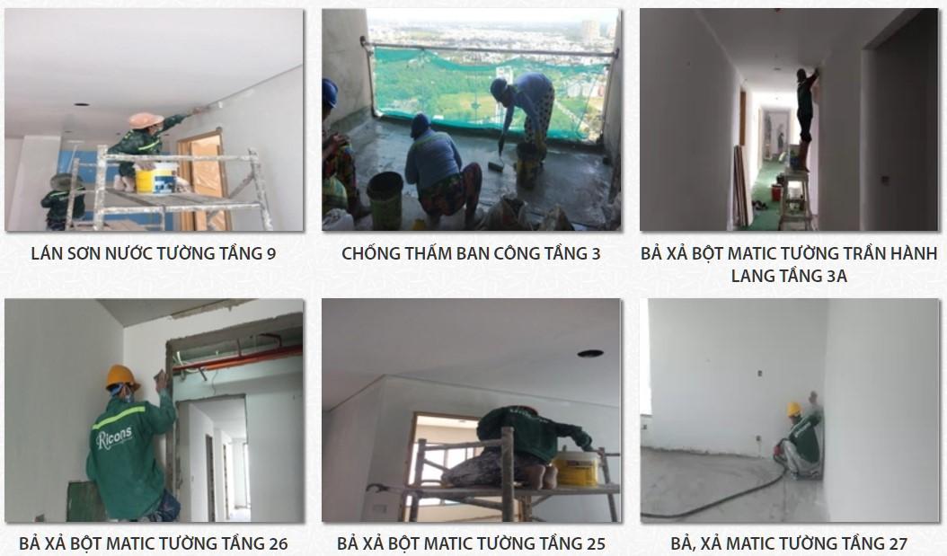 Tiến độ xây dựng dự án căn hộ chung cư AnGia Skyline Quận 7 tháng 07/2017- Nhận mua bán + cho thuê + Nhận bảng giá Gọi 0908.271.320