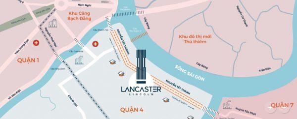 Vị trí thuận lợi của Lancaster Lincoln quận 4