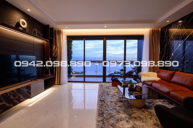Phòng khách căn hộ An Gia Riverside Quận 7 tầm nhìn không giới hạn Sông Sài Gòn
