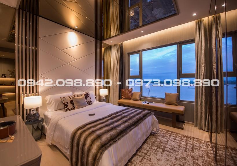 Phòng ngủ Master căn hộ cho thuê An Gia Riverside Quận 7 cho thuê nhìn view sông.