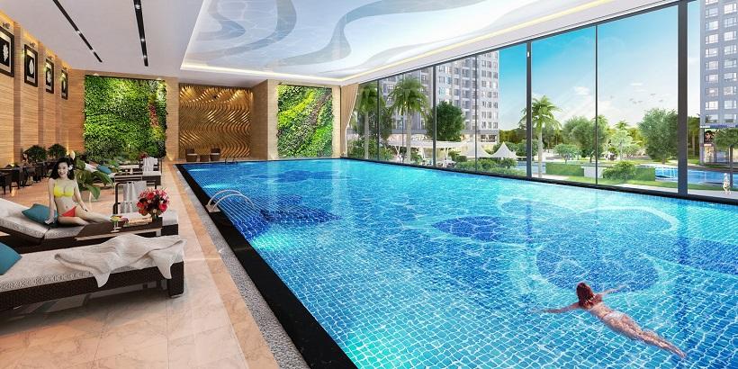 Bán và thuê Tiện ích hồ bơi  miến phí căn hộ chung cư Saigon Intela Bình Chánh