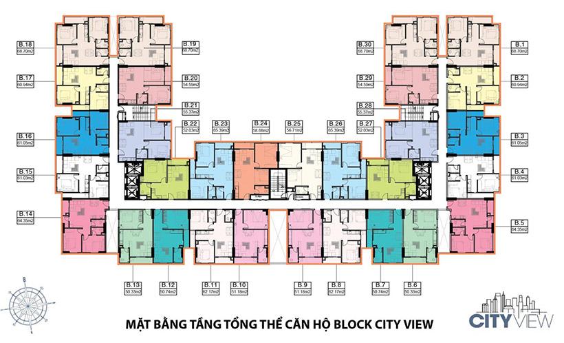 Mặt bằng thiết kế căn hộ chung chư Heaven City View Quận 8. Dự án căn hộ chung cư giá rẻ tốt nhất quận 8