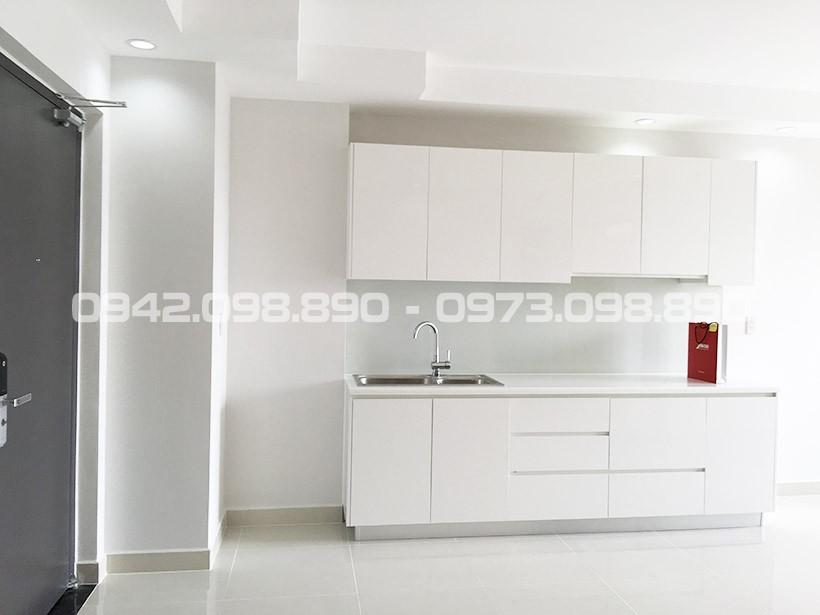 Bộ tủ bếp trên bếp dưới thương hiệu An Cường được bàn giao từ chủ đầu tư An Gia Garden Quận Tân Phú.