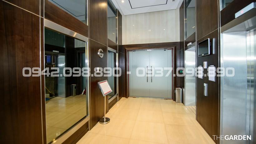 Sảnh thang máy căn hộ cao cấp AnGia Garden đẹp và sang trọng