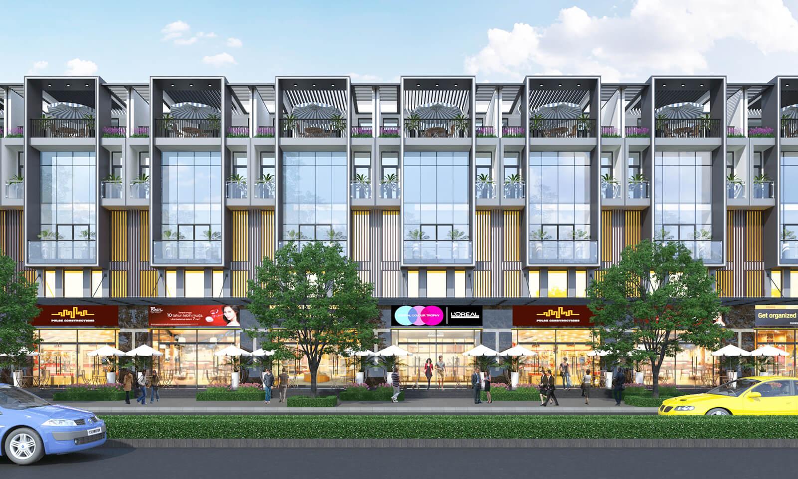 Dự án nhà phố thương mại khu căn hộ Heaven Quận 8