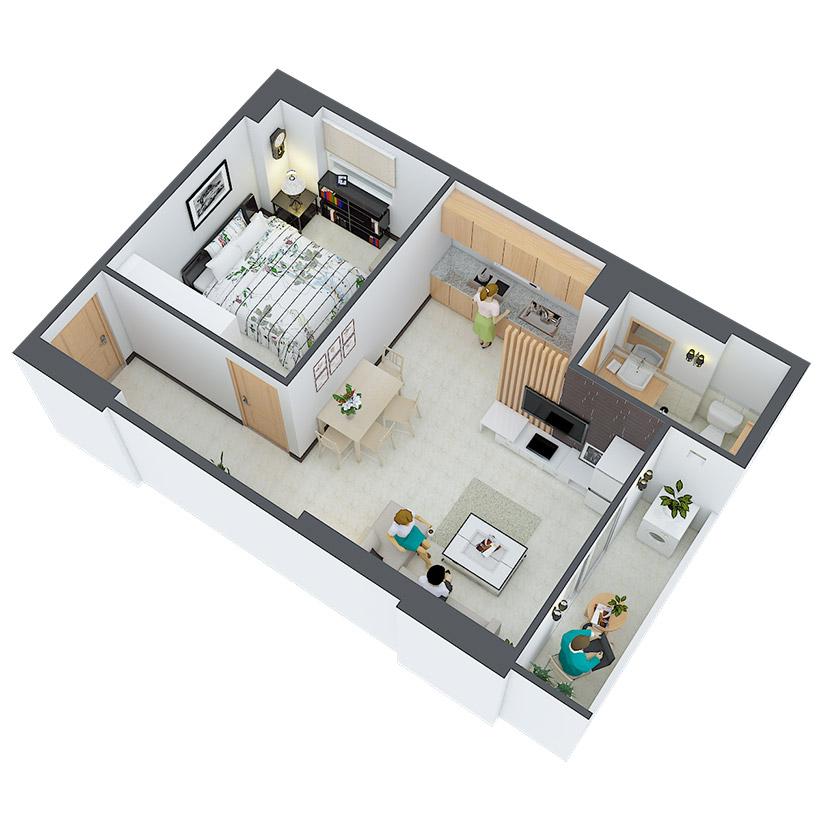 Thiết kế căn hộ 09 và 10 Căn hộ Heaven city Quận 8 và căn hộ Heaven River View. Dự án căn hộ giá rẻ nhất quận 8.
