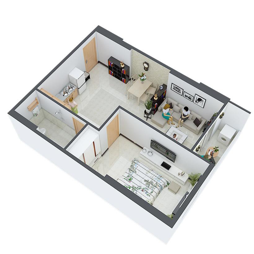 Thiết kế căn hộ 20 và 29 Căn hộ Heaven city Quận 8 và căn hộ Heaven River View. Dự án căn hộ giá rẻ nhất quận 8.