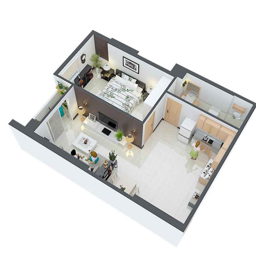 Thiết kế căn hộ 21 và 28 Căn hộ Heaven city Quận 8 và căn hộ Heaven River View. Dự án căn hộ giá rẻ nhất quận 8.