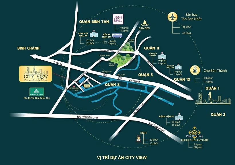 Vị trí địa chỉ dự án căn hộ chung cư Heaven City View Quận 8