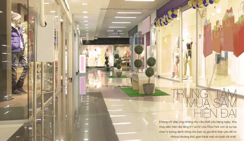 Trung tâm mua sắm bên trong Riva park