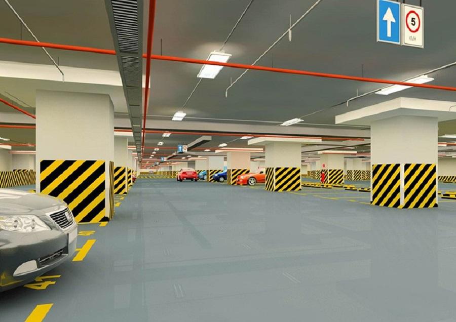 Tầng hầm để xe tại dự án Riva Park Quận 4