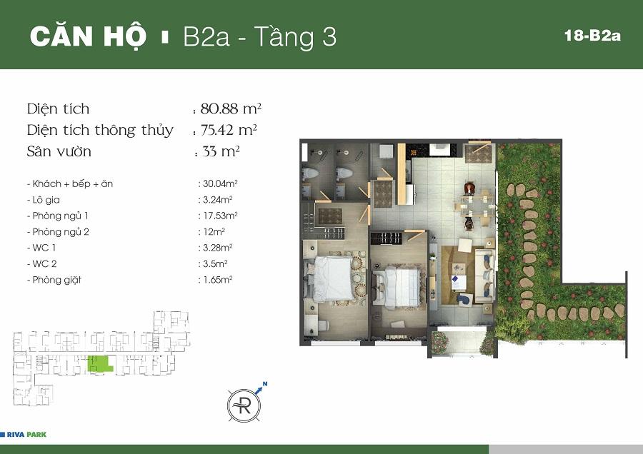 Mặt bằng chi tiết căn hộ Riva Park Quận 4