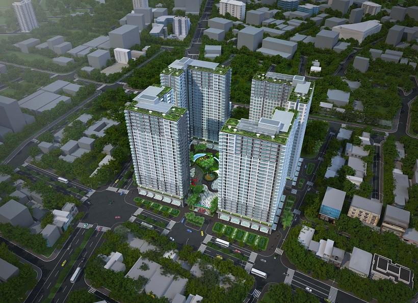 Phối cảnh tổng thể dự án căn hộ Palacio Garden Quận Tân Bình