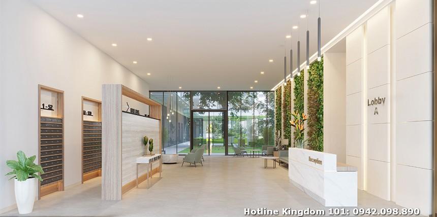 Khu vực sảnh đón cư dân Kingdom 101 ( Block A,B,C) dự án căn hộ chung cư Kingdom 101 Quận 10