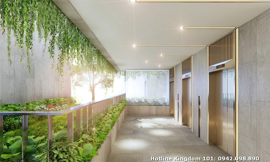 Sảnh chờ thang máy tầng 4 Kingdom 101 ( Block A,B,C) dự án căn hộ chung cư Kingdom 101 Quận 10