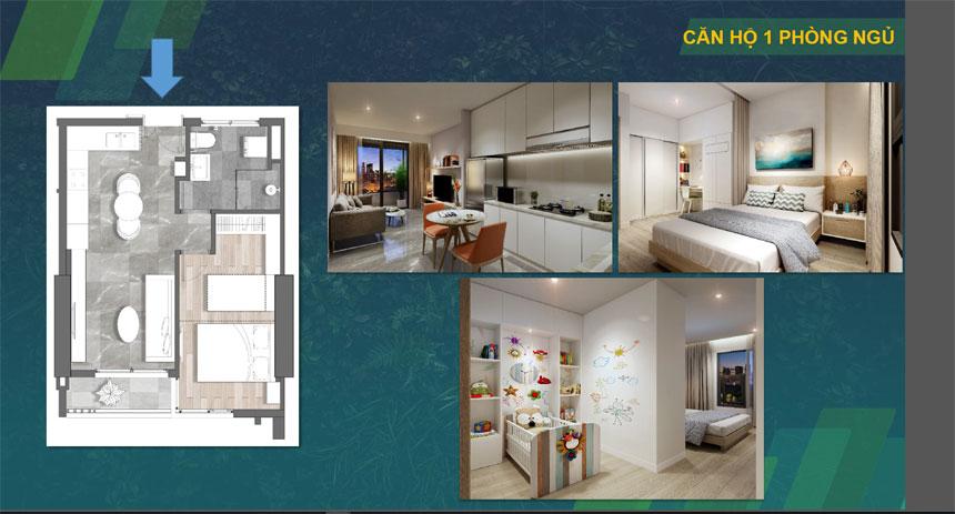 Thiết kế căn hộ 1 phòng ngủ dự án Kingdom 101 Quận 10 Đường Tô Hiến Thành