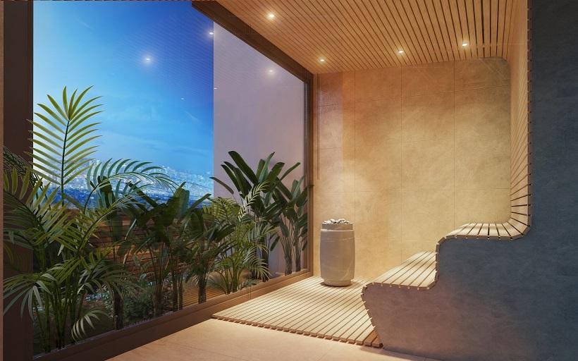 Tiện ích phòng sông hơi Sauna dự án căn hộ chung cư kingdom 101 Tô Hiến Thành Quận 10