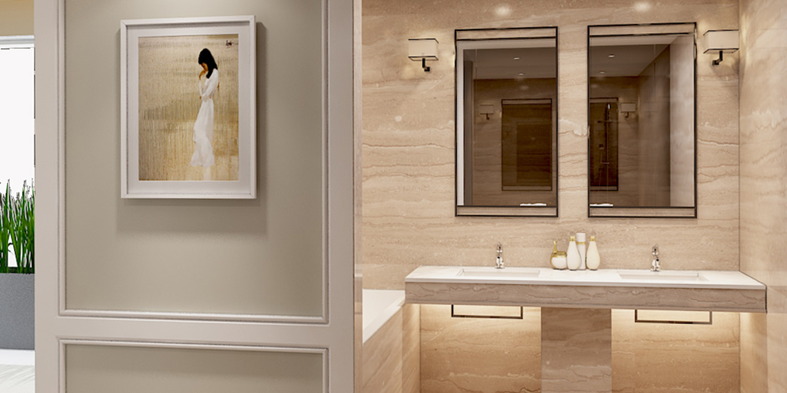Thiết kế khu vực vệ sinh phòng ngủ lớn biệt thự Snetruria An Phú Quận 2