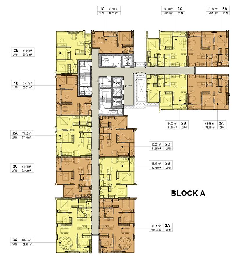 Mặt bằng thiết kế căn hộ Kingdom 101 Block A