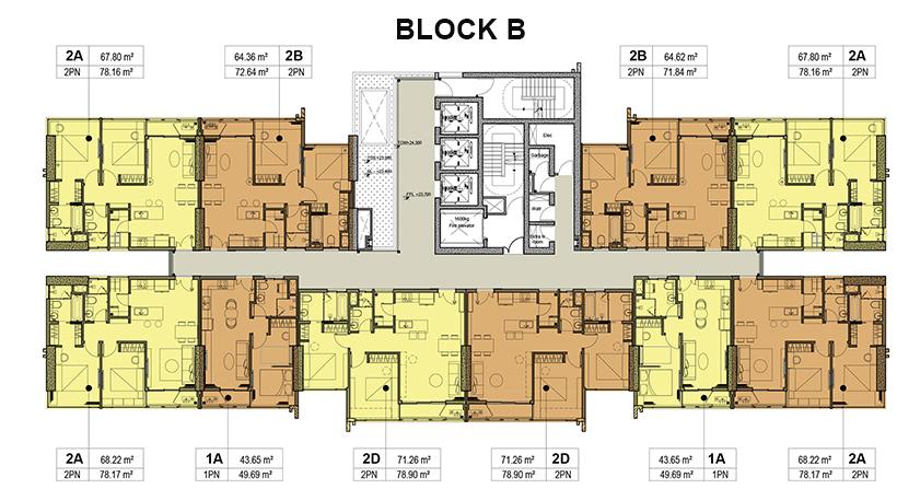 Mặt bằng thiết kế căn hộ Kingdom 101 Block B