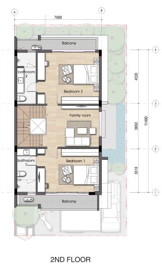 Thiết kế tầng 02 dự án biệt thự Senturia An Phú Quận 2