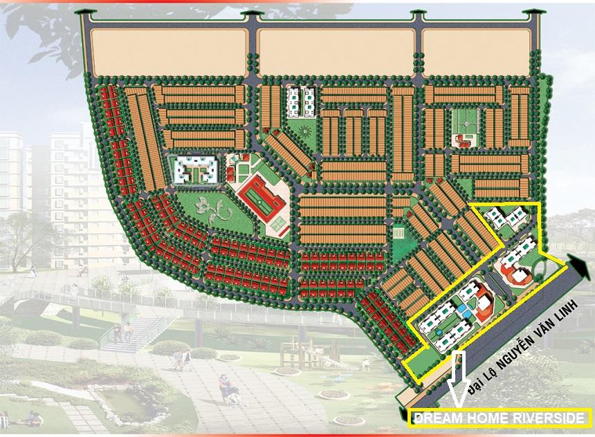 Quy hoạch tổng khu căn hộ Dream Home Riverside Quận 8