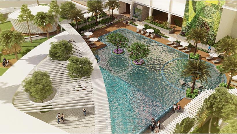 Tiện ích Hồ bơi miễn phí  dự án chung cư Charmington Iris Quận 4 - Nhận mua bán căn hộ Charmingtin Iris Q4 LH 0942.098.890