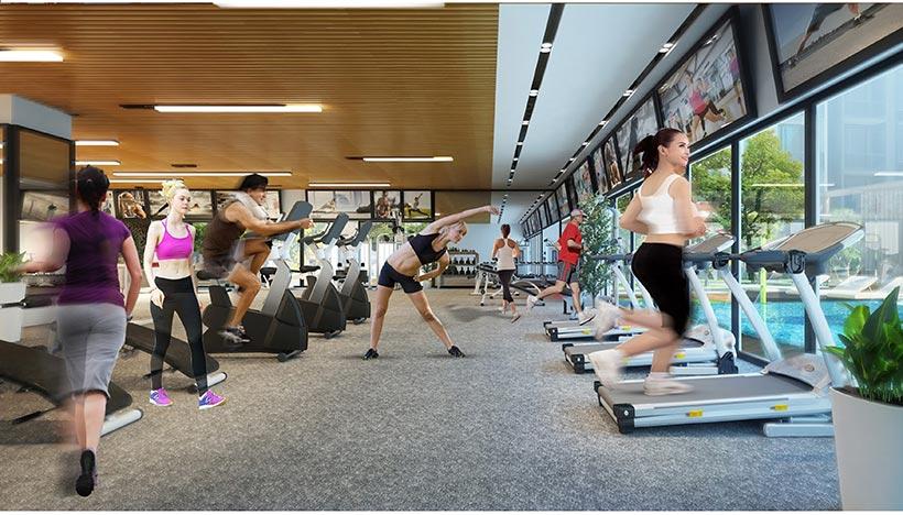 Tiện ích phòng tập Gym căn hộ chung cư Charmington Iris Quận 4 chủ đầu tư TTC Land