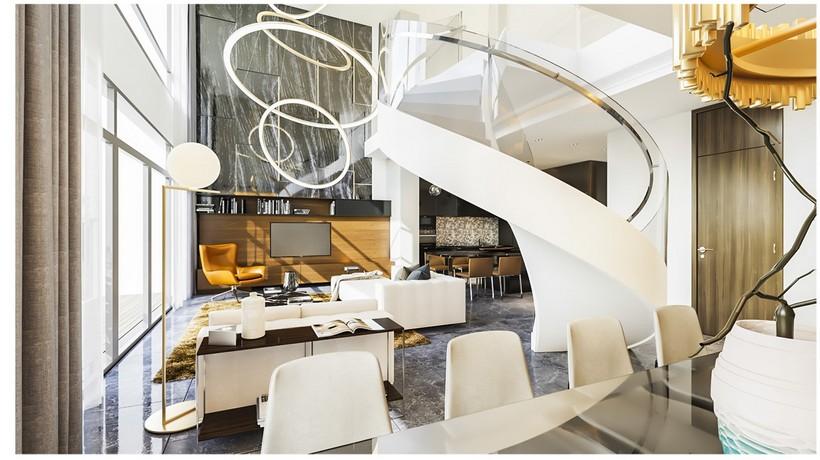Trần căn hộ Duplex Kingdom 101 thiết kế cao 6m, nội thất sang trọng đẳng cấp xứng tầm chủ nhân căn hộ Duplex. Gọi 0942.098.890 để sở hữu căn hộ Duplex Kingdom 101