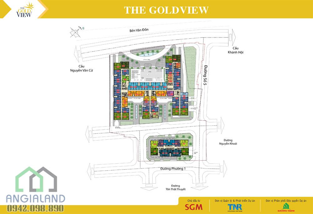 Vị trí dự án The Gold View Quận 4