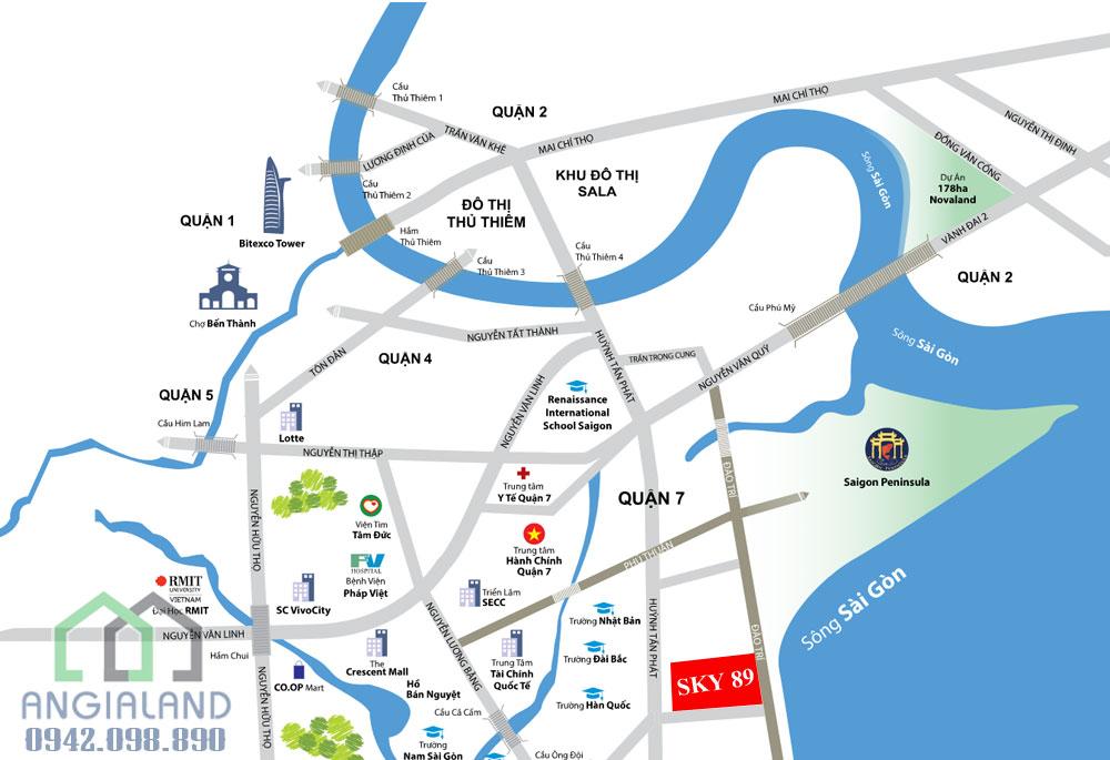 Địa chỉ dự án Smartel Signial Quận 7 : 89 Hoàng Quốc Việt, Phường Phú Thuận, Quận 7, TP HCM.