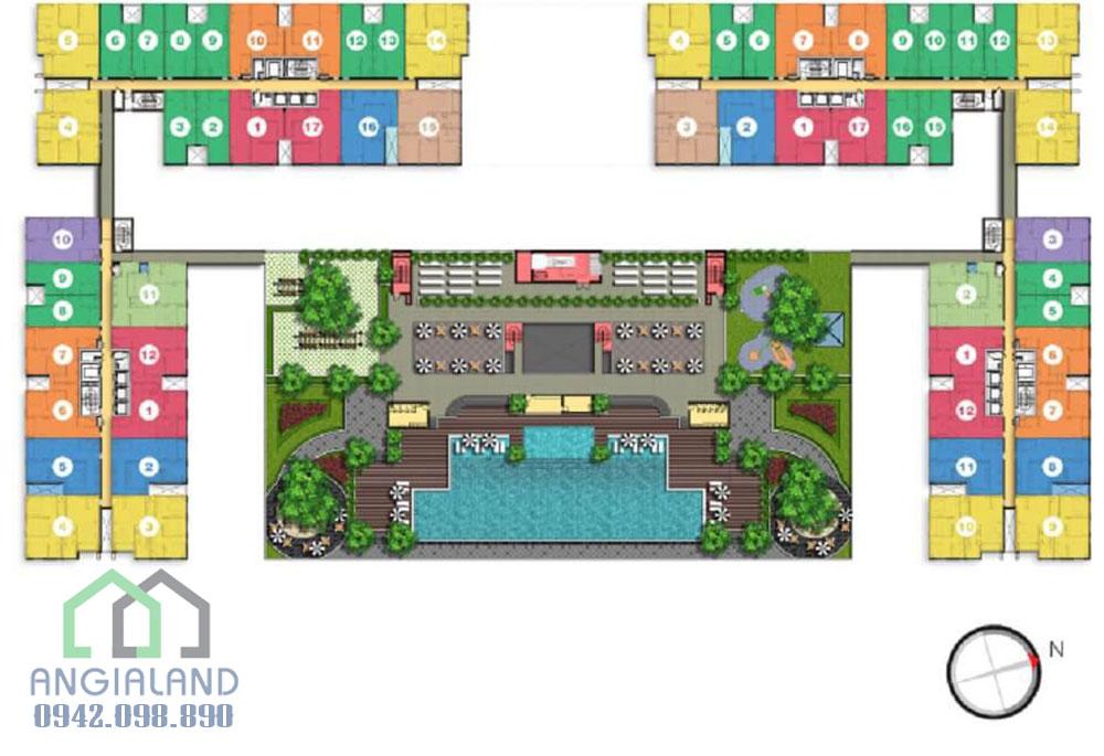 Mặt bằng điển hình dự án căn hộ Lexington Residence Quận 2
