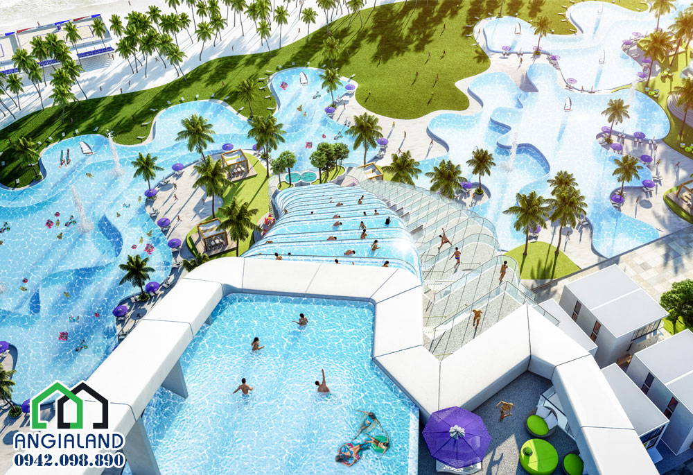 Cảnh Hồ Bơi dự Án The Arena Cam Ranh