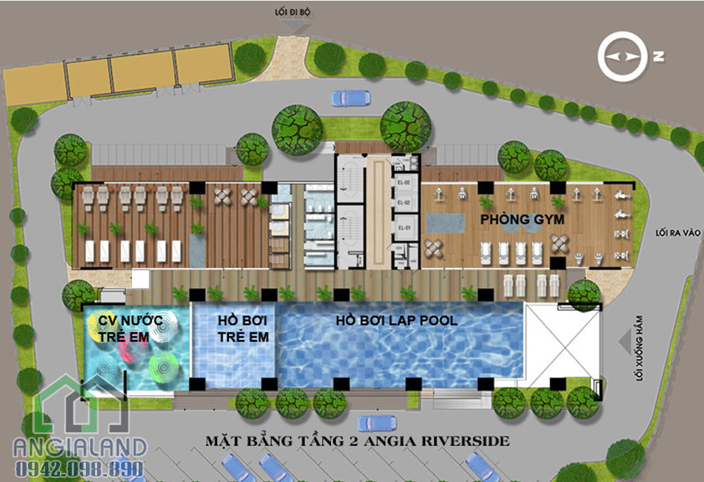 Mặt bằng dự án căn hộ cho thuê An Gia Riverside
