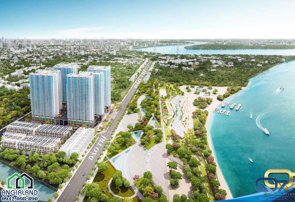 Toàn cảnh dự án căn hộ Q7 Saigon Riverside Complex Hưng Thịnh Quận 7