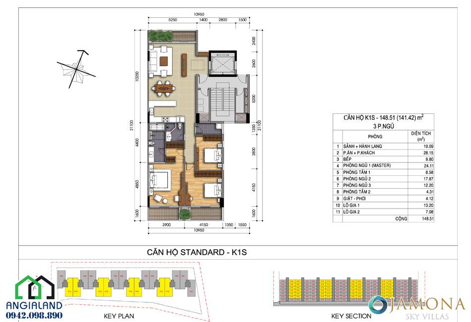 Bán chung cư Jamona Sky Villas giá hấp dẫn tại Quận 7 LH 0942098890