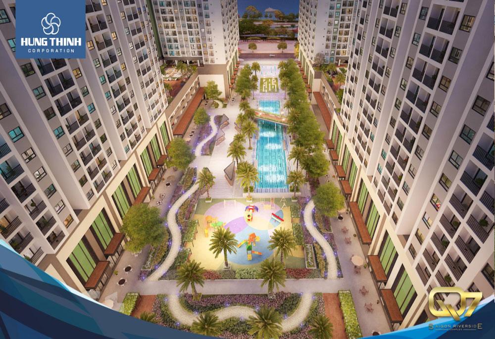Hệ thống tiện ích dự án căn hộ Q7 Saigon Riverside Hưng Thịnh Quận 7