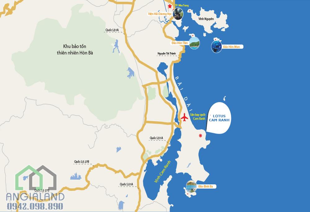Địa chỉ vị trí dự án KN Paradise Cam Ranh