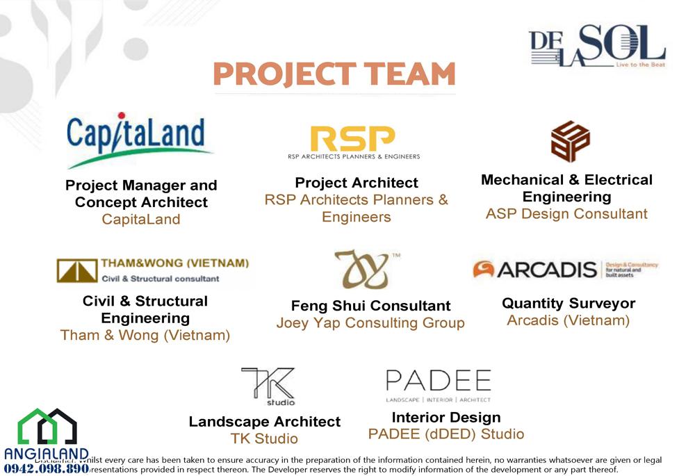Các dự án khác của chủ đâu tư De La Sol Capitaland