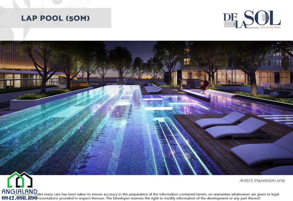 Bể Bơi dự án DeLasol Capitaland LH xem nhà 0942.09.890