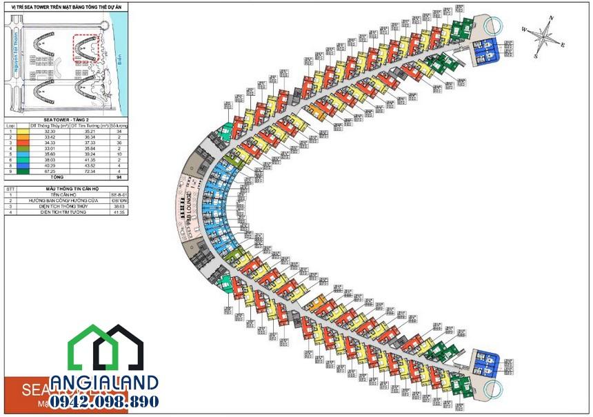 Mặt bằng thiết kế dự án The Arena Cam Ranh