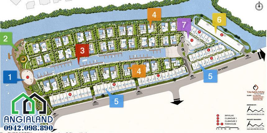 Mặt bằng thiết kế dự án TNR EverGreen Quận 7