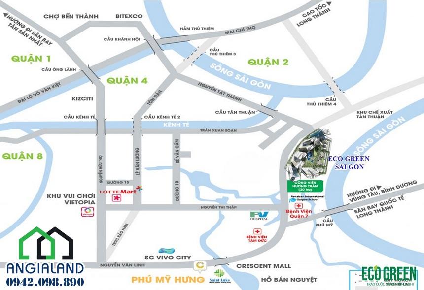 vị trí tọa lạc dự án Eco Green Quận 7