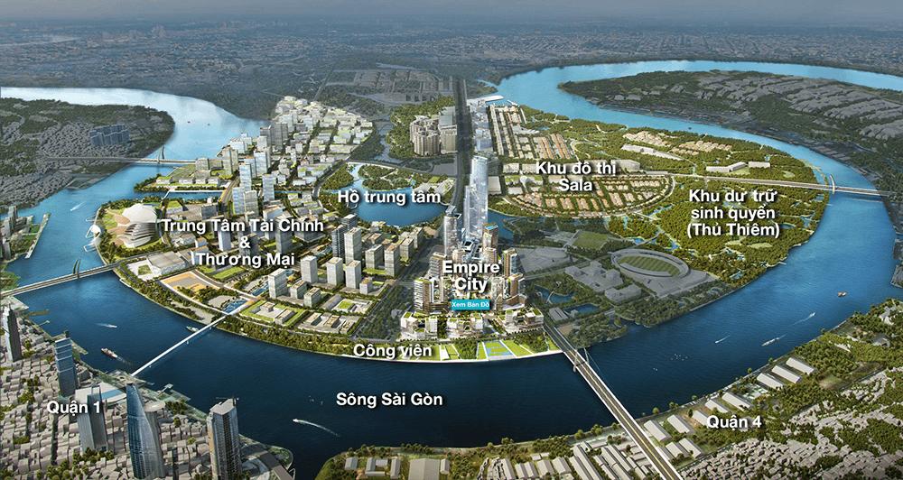 Phối cảnh tổng khu đô thị mới Thủ Thiêm