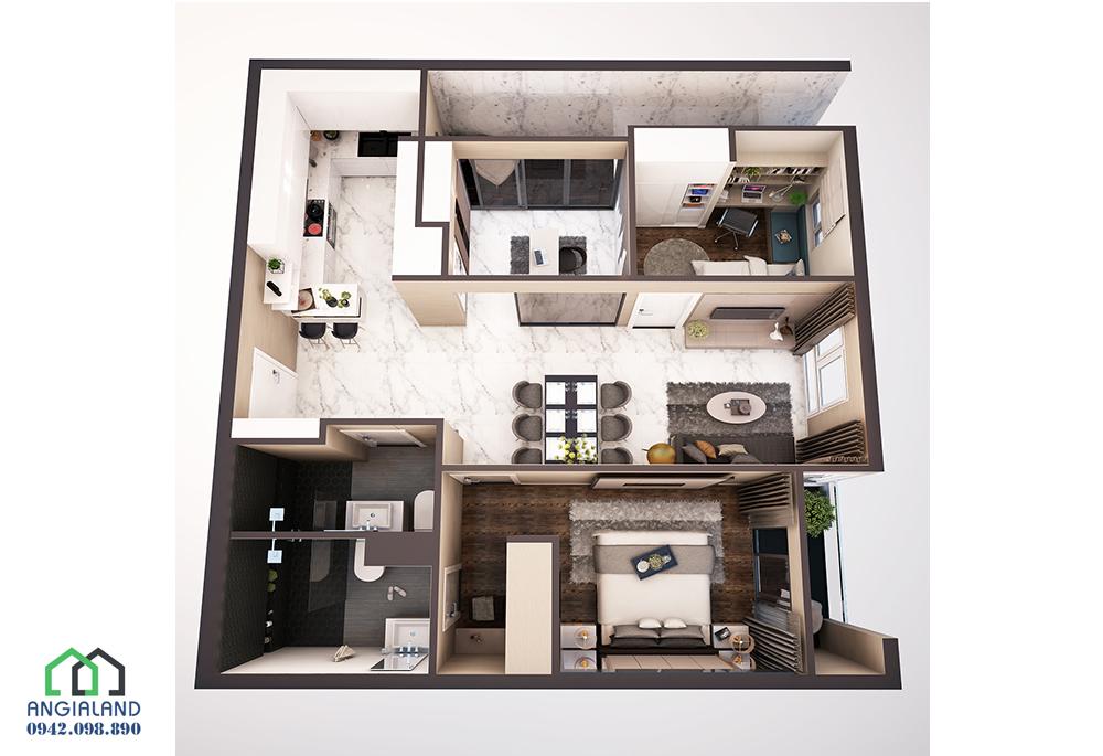 Mặt bằn thiết kế căn hộ Centana Thủ Thiêm Quận 2