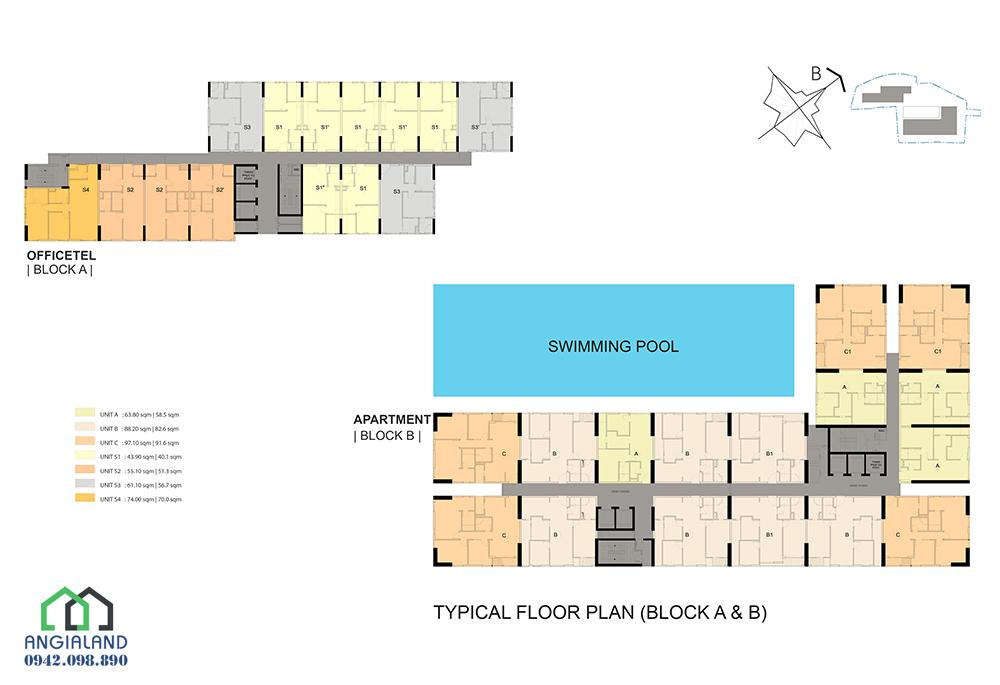 Mặt bằng thiết kế căn hộ dự án Centana Thủ Thiêm Quận 2